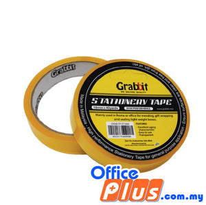 Grabbit Stationery Tape 18mm x 40 yards - 2 rolls/pack - OfficePlus.com.my