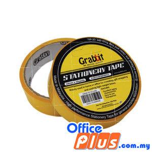 Grabbit Stationery Tape 24mm x 30 yards - 2 rolls/pack - OfficePlus.com.my