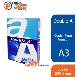 Double A A3 Copier Paper Premium 80gsm - 500 sheets (RM 28.00 - RM 29.00/ream) - OfficePlus