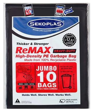 GARBAGE BAG JUMBO 10PCS - OfficePlus.com.my