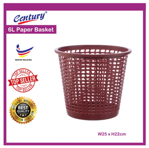 PAPER BASKET 6L (1019) - OfficePlus.com.my