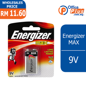 ENERGIZER ALKALINE BATTERY 9V - OfficePlus
