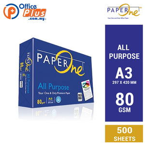 PaperOne A3 Copier Paper All Purpose 80gsm - 500 sheets (RM 22.50 - RM 23.40/ream) - OfficePlus