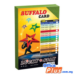 Lucky Star A4 Fancy Card BF C230-10 Dark Green 230gsm - 100 sheets - OfficePlus
