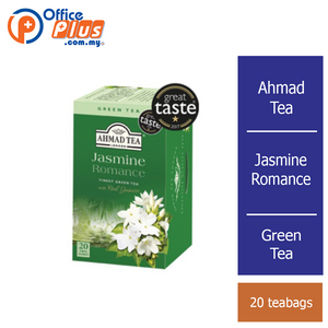 Ahmad Tea Jasmine Romance Green Tea - 20 teabags - OfficePlus