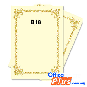 Lucky Star A4 Gold Stamping Certificate B18 160gsm - 100 sheets - OfficePlus