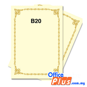 Lucky Star A4 Gold Stamping Certificate B20 160gsm - 100 sheets - OfficePlus