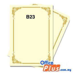 Lucky Star A4 Gold Stamping Certificate B23 160gsm - 100 sheets - OfficePlus