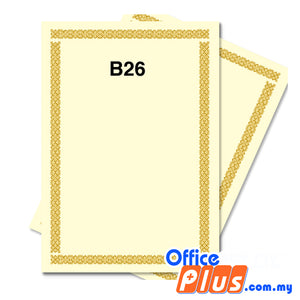Lucky Star A4 Gold Stamping Certificate B26 160gsm - 100 sheets - OfficePlus