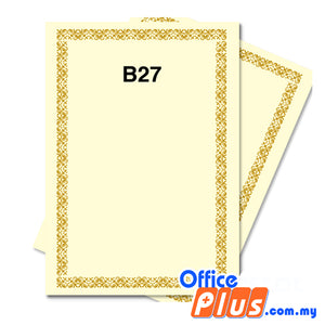 Lucky Star A4 Gold Stamping Certificate B27 160gsm - 100 sheets - OfficePlus