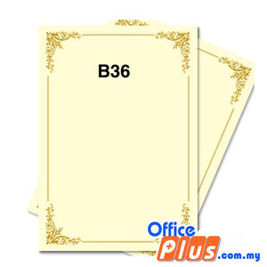 Lucky Star A4 Gold Stamping Certificate B36 160gsm - 100 sheets - OfficePlus