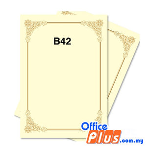 Lucky Star A4 Gold Stamping Certificate B42 160gsm - 100 sheets - OfficePlus