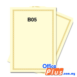 Lucky Star A4 Gold Stamping Certificate B5 160gsm - 100 sheets - OfficePlus