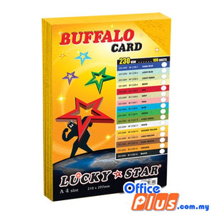Lucky Star A4 Fancy Card BF C230-12 Golden Yellow 230gsm - 100 sheets - OfficePlus.com.my