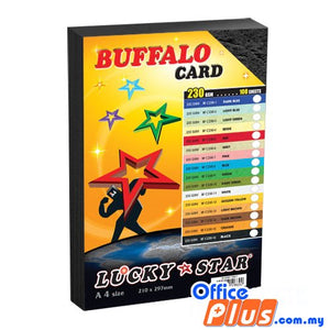 Lucky Star A4 Fancy Card BF C230-16 Black 230gsm - 100 sheets - OfficePlus.com.my
