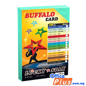 Lucky Star A4 Fancy Card BF C230-2 Light Blue 230gsm - 100 sheets - OfficePlus