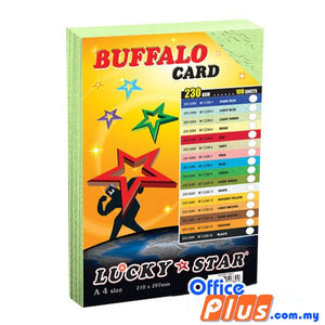 Lucky Star A4 Fancy Card BF C230-3 Light Green 230gsm - 100 sheets - OfficePlus.com.my