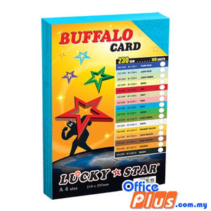 Lucky Star A4 Fancy Card BF C230-8 Blue 230gsm - 100 sheets - OfficePlus.com.my