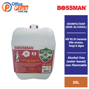 BOSSMAN DISINFECTANT (NON-ALCOHOL) - 20L - READY TO USE - OfficePlus