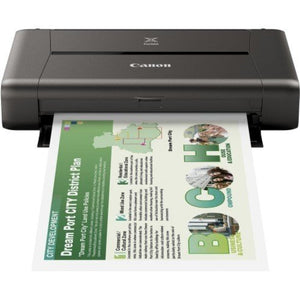 Canon PIXMA iP110 Single WiFi Mobile Color Inkjet Printer - OfficePlus