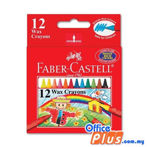 Faber-Castell 12-S Wax Crayons (122412) - OfficePlus