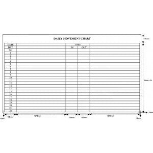Planner Board - Daily Movement Chart - CDM34 (90cm x 120cm) - OfficePlus