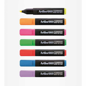Artline 660 Fluorescent Highlighter (RM 1.90 - RM 2.00/pc) - OfficePlus