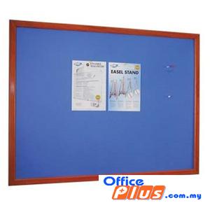 Foam Notice Board Wooden FB-34W 90 x 120cm (3′ x 4′) - OfficePlus