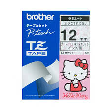 Brother TZe-HW31 Hello Kitty Pitch Character (12mm) Tapes - OfficePlus.com.my