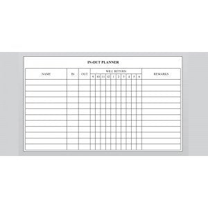Planner Board -  In-Out Planner-CIP23 (60cm x 90cm) - OfficePlus
