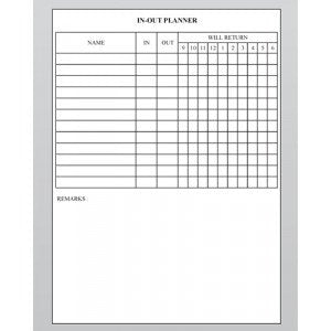 Planner Board - In-Out Planner - CIP32 (90cm x 60cm) - OfficePlus