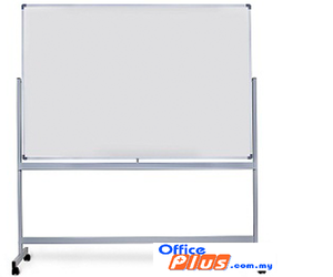 Mobile Magnetic White Board-Single Side W/Stand 3′ X 4′ - OfficePlus