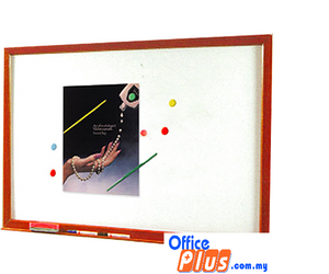 MAGNETIC WHITEBOARD WOODEN SM-46W 120 x 180 CM (4′ x 6′) - OfficePlus