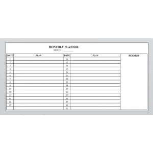 Planner Board - Monthly Planner -CMP24 ( 60cm x 120cm) - OfficePlus