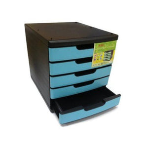 Niso 5 Tier Letter Tray Blue - OfficePlus.com.my