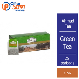 Ahmad Tea Pure Green Tea - 25 teabags - OfficePlus
