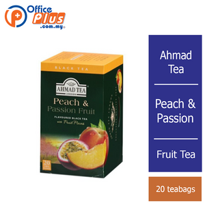 Ahmad Tea Peach & Passion Fruit, Fruit Tea - 20 teabags - OfficePlus