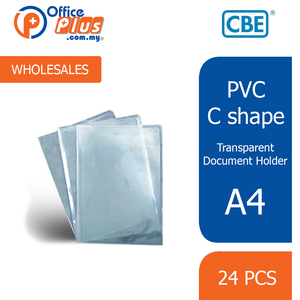 CBE A4 PVC Transparent C-Shape Document Holder - 9101A (RM 0.70 - RM 0.90/pc) - OfficePlus