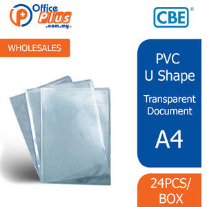 CBE A4 PVC Transparent U-Shape Document Holder - 9102A (RM 0.70 - RM 0.90/pc) - OfficePlus