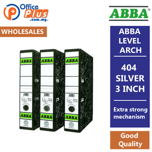 "ABBA Lever Arch File 404 Silver 3"" - OfficePlus"