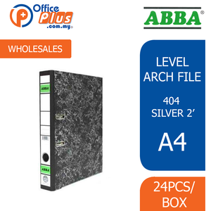 "ABBA Level Arch File 404 Silver 2"" (RM 5.50 - RM 6.20/pc) - OfficePlus"