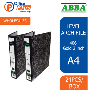 "ABBA Level Arch File 406 Gold 2"" (RM 6.00 - RM 6.90/pc) - OfficePlus"