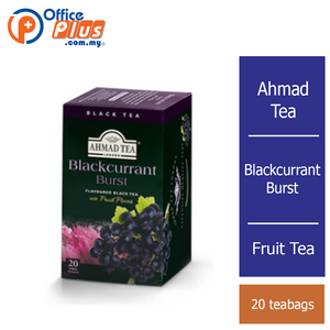 Ahmad Tea Blackcurrant Burst Fruit Tea - 20 teabags - OfficePlus