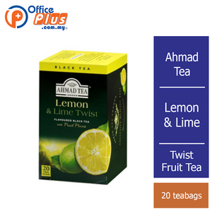 Ahmad Tea Lemon & Lime Twist Fruit Tea - 20 teabags - OfficePlus