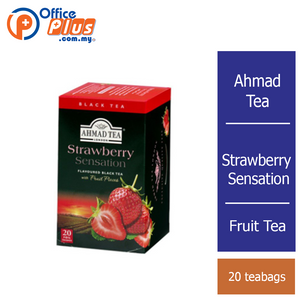 Ahmad Tea Strawberry Sensation Fruit Tea - 20 teabags - OfficePlus