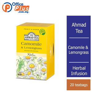 Ahmad Tea Camomile & Lemongrass Herbal Infusion - 20 teabags - OfficePlus