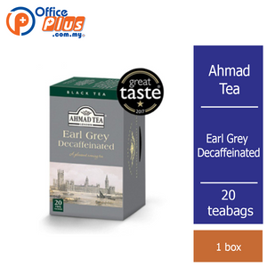 Ahmad Tea Earl Grey Decaffeinated Tea - 20 teabags - OfficePlus