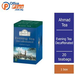 Ahmad Tea Evening Tea Decaffeinated - 20 teabags - OfficePlus