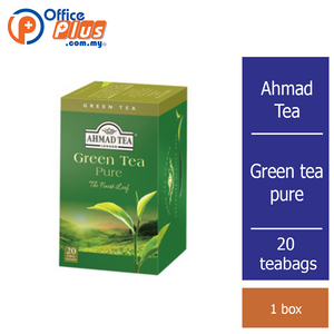 Ahmad Tea Pure Green Tea - 20 teabags - OfficePlus