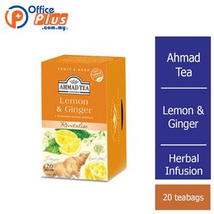Ahmad Tea Lemon & Ginger Herbal Infusion - 20 teabags - OfficePlus